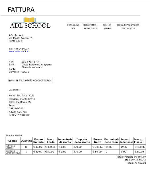 Sample Invoice Doc Word Invoices Receipts Using Online Language School Admin System  Invoice Def with Limo Receipt Template Word Click Image To Enlarge And Begin Slideshow Receipt Storage Book Excel